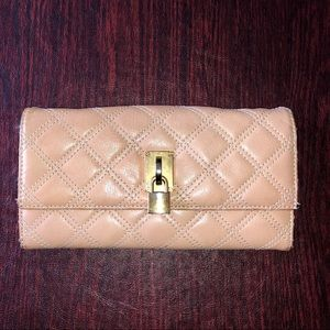 MARC JACOBS Blush Leather Quilted Wallet